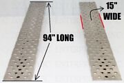 94 X 15 10,000 Lbs Punched_aluminum_trailer_ramps_car_auto_truck Like 96 Or 8