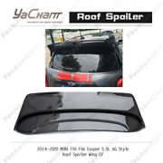 Carbon Rear Wing Kit For 14-20 Mini F55 F56 Cooper S Dl Ag Style Roof Spoiler