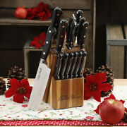 The Pioneer Woman Knife Block Set Kitchen Cutlery Knives 14 Pcs Stainless Steel