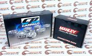 Cp Piston 3.307 / 84.00 Mm Bore 10.21 Cr And Manley H-beam Rods For Bmw N55b30