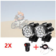 Aluminum Alloy External Led Headlights With Lampshade 9 Lights X2+ Harness Set