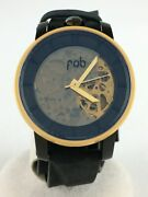 Other Brand Fob Paris Self-winding Watch Analog Leather Clr Blk Cedd Verygood W