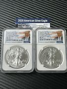 2020 Emergency Production American Silver Eagle Set. Ngc Ms70. Matching Labels.