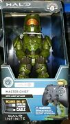 Master Chief Xbox Controller Holder Light Up Base New W/ 6ft Cable Sold Out Rare