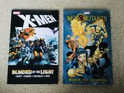 Rare X-men Tpb Lot Blinded By The Light And New Mutants Back To School Oop Omnibus