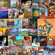 Diy Unframed Running Colored Elk Painting Picture By Numbers Colorful Paint Kit