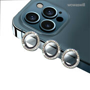 For Iphone 12/mini/pro/pro Max Bling Diamond Camera Lens Protector Cover Ring
