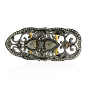 4.11ct Pave Diamond Full Finger Knuckle Ring 18k Gold 925 Silver Jewelry Women