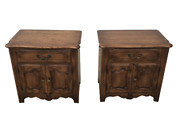 Pair Of Ethan Allen Country French Commode Nightstands 26-5316 Fruitwood Finish