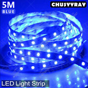 12v Waterproof Led Strip Light 5m 300 Leds For Boat / Truck And Carand Suv / Rv Blue