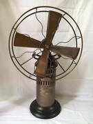Vintage Mechanical Stirling Engine Powered Air Fan Fully Functional Hand Crafted