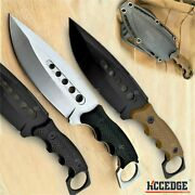 9 Full Tang Fixed Blade Knife Kydex Sheath Hunting Knife Drop Point Blade