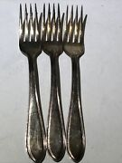 Victor S Co Silverware Silver Plated Forks Set Of Three