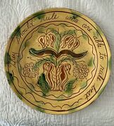 Vintage 1979 Pottery Bandl Breininger Election13 Sgraffito Plate-aristotle Quote