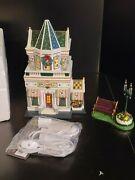Petals And Stems Lighted House Dept. 56 Time To Celebrate Merryville Series 2004