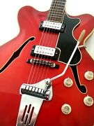 Hofner Early 60s Red Thinline In Outstanding Condition With Original Case