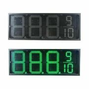 Waterproof 12v 40w 10 Led Gas Station Rc Electronic Fuel Price Sign 8888/9
