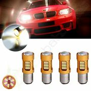 4x 1157 Cree Led 54 Smd Tail Projector White Hid Light 60w 6000lm 12v 6000k