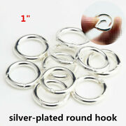 Wholesale 1 Inch Silver Plated Round Spring Hook Spring Clasp Carabiner Key Ring