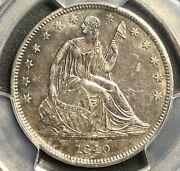 1840 Seated Liberty Half Dollar, Reverse Of 1839 Genuine, Almost Uncirculated