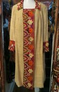 Sale 1920s Egyptian Revival/deco Coat/duster/dress W/embroidery/mirrorwork
