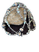 48andrdquo Stunningrare Navajo Pearls Sterling Silver Dry Creek Turquoise Necklace 1142