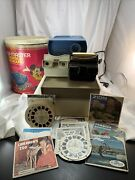 Viewmaster Gaf Disney Container Projector + Reels + 2 Viewfinders