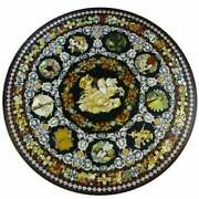 36 Marble Dining Table Top Inlay Roman Pattern Antique Round Table Ar008