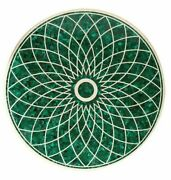 36 Marble Dining Table Top Inlay Rare Malachite Antique Round Coffee Table Ar09