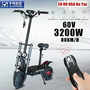 80km/h Powerful Electric Scooter Adults 60v 3200w 11inch Off Road Dual Motors