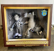 Toy Story 25th Anniversary Woody And Bullseye Plush Box Set Limited Release New