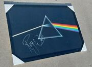 Pink Floyd Roger Waters Signed Dark Side Of The Moon 24x36 Canvas