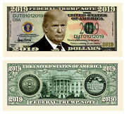 Pack Of 50 - Donald Trump 2019 Presidential Novelty Dollar Bill Collectible