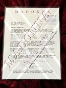 Madonna Signed Typed '93 Aids Dance-a-thon Donation Letter Plea Promo Stationary