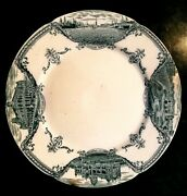 19th Buenos Aires City Views Hanley J And G Meakin England Porcelain Plate