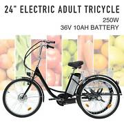 Adult Electric Tricycle 24 250w 36v 10ah Lithium Battery W/basket