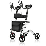 Freeaction Red Fold Upright Walker Medical Seat Back 8 4 Wheel Up To 300 Lbs