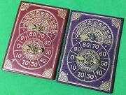 2 X Old Antique Willis Bezique Registers Playing Cards Game Markers Scorers 1
