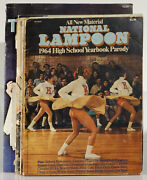 12 National Lampoon Softcovers Raunchy Humor High School Yearbook/encyclopedia