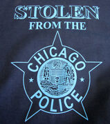 T Shirt Stolen From The Chicago Police W/ Cpd Star Humorous Navy Xlarge