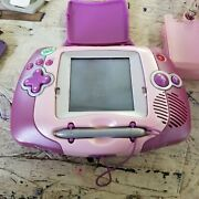 Leapfrog Leapster L-max Learning Game System Purple/pink W/ 7 Games