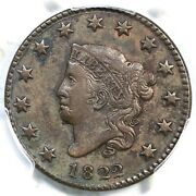 1822 N-3 R-2 Pcgs Xf Details Matron Or Coronet Head Large Cent Coin 1c