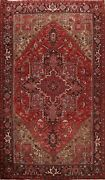 Vintage Hand-knotted Geometric Traditional Area Rug Dining Room Wool 8x11 Carpet