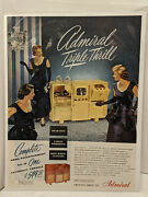 1948 Admiral Triple Thrill Vintage Print Ad 11x13 Luxurious All In One Console