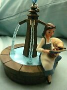 Disney Store Belle Singing At Fountain 2017 Christmas Ornament, Nwt