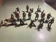 Ww1 Lead Soldiers Cillection Hand Painted Different Ones Early Pieces Large Lot