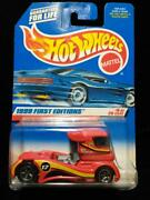 New 1999 Hot Wheels First Editions Semi-fast Truck Cab Rims Do Not Match H154
