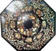 48 Marble Dining Table Top Inlay Rare Stones Antique Coffee Table Decor Ar072