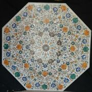 48 Marble Dining Table Top Inlay Rare Stones Antique Center Coffee Table Ar075