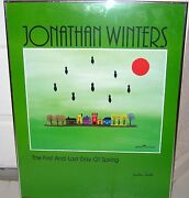 Jonathan Winters Signed Poster Art And03983 The First And Last Day Of Spring Rare Vtg